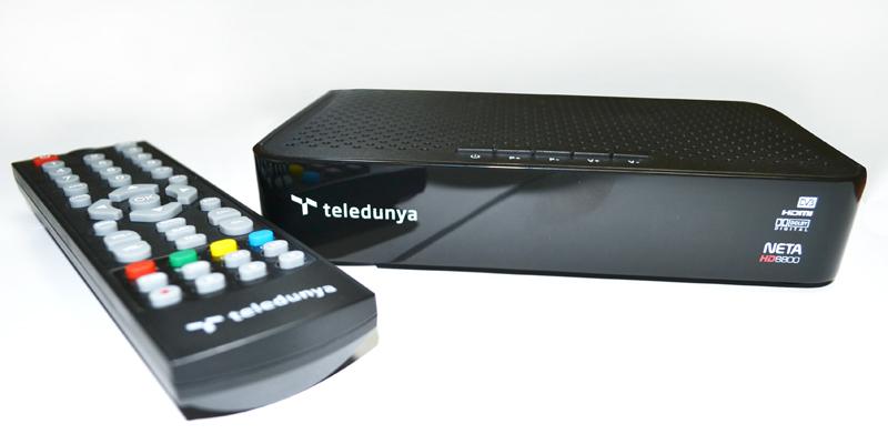 Teledünya logolu kumanda ve dekoder fotoğrafı.